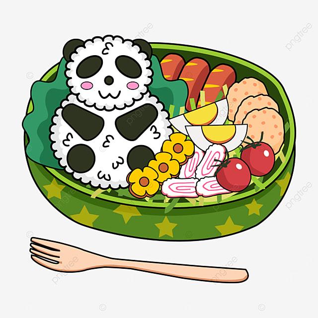 cute japanese lunch box with cute panda theme