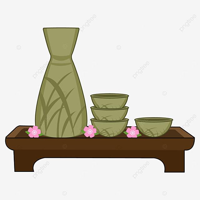 green grass pattern japanese sake
