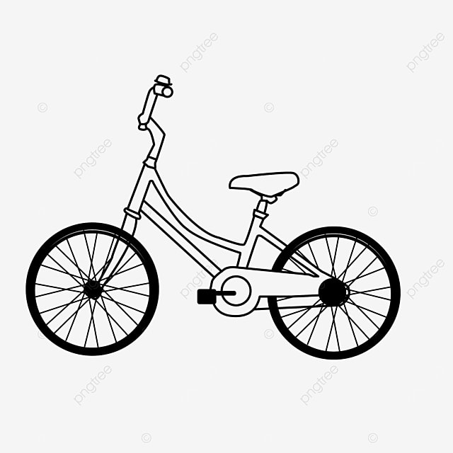 healthy lifestyle cycling bicycle clipart black and white