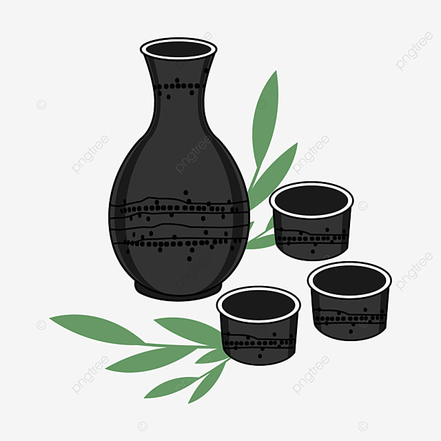 japanese sake with black dotted lines
