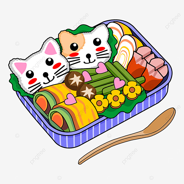 kitty themed japanese cute lunch box