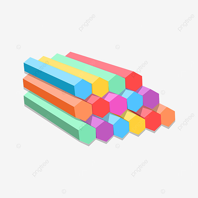 laid out neatly colored chalk clipart