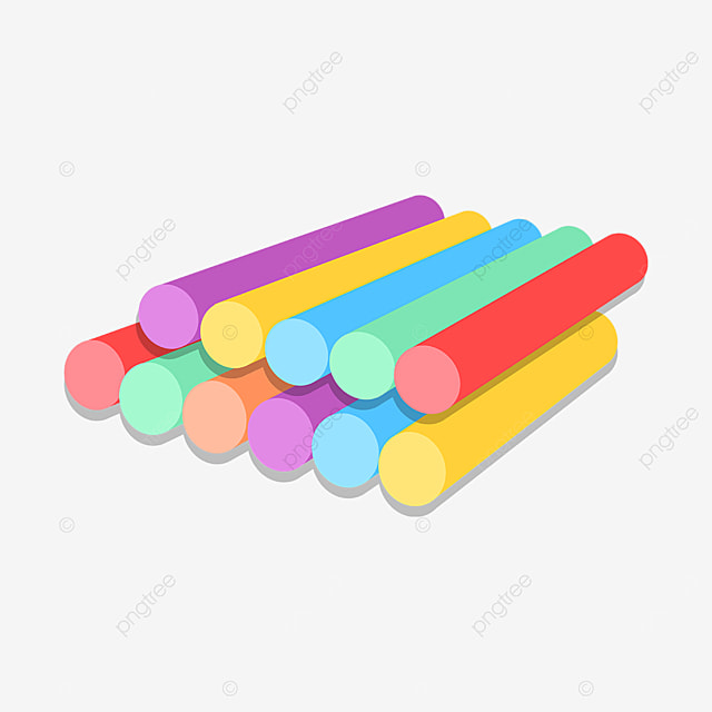 neatly stacked colored chalk clipart