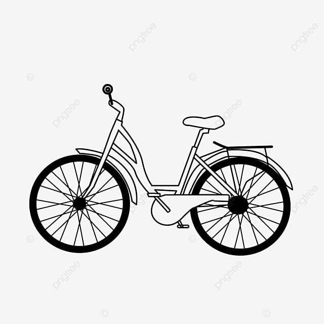 outdoor lifestyle bicycle clipart black and white