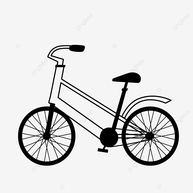 outdoor sports way bicycle clipart black and white