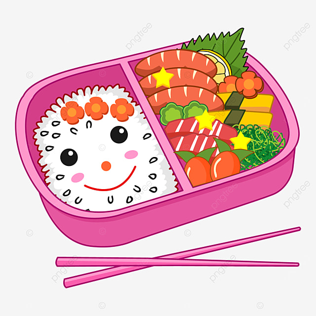 pink japanese cute lunch box