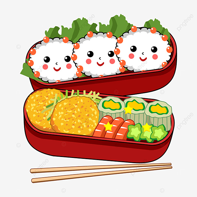 red japanese cute lunch box
