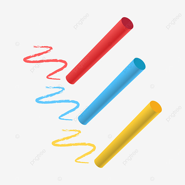 red yellow blue three color chalk clipart
