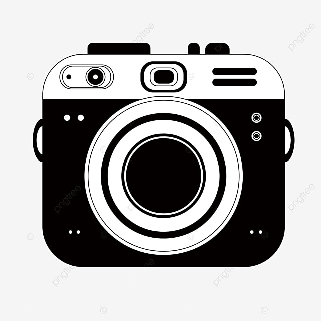 black and white digital camera clipart