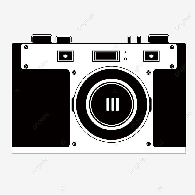 black and white mirrorless camera clip art