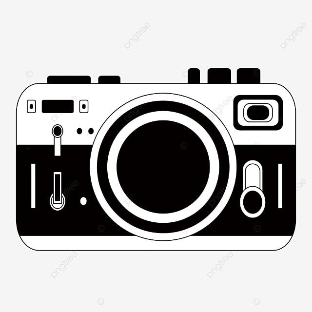 camera black and white clipart