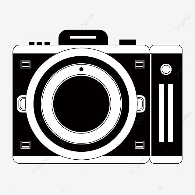 clip art black and white camera