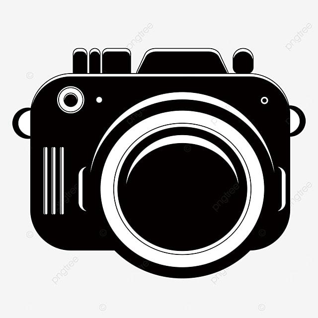 clip art black and white digital camera