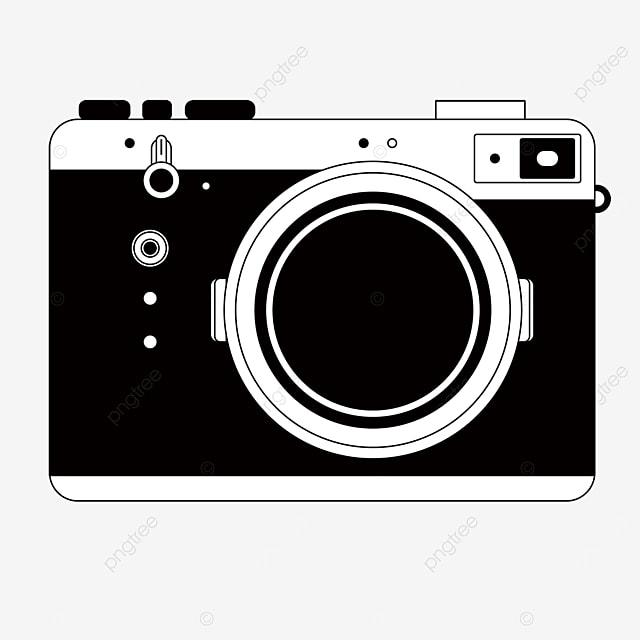clip art mirrorless camera black and white