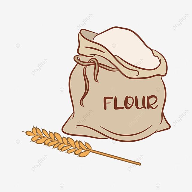 collecting sack flour clip art