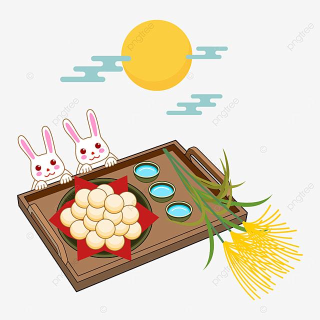 cute bunny and tsukimi dumpling