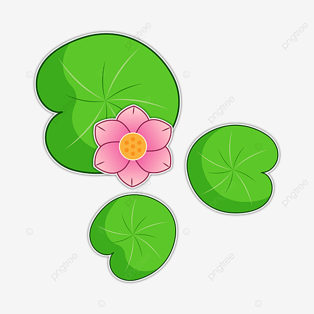 cute pink water lily clipart