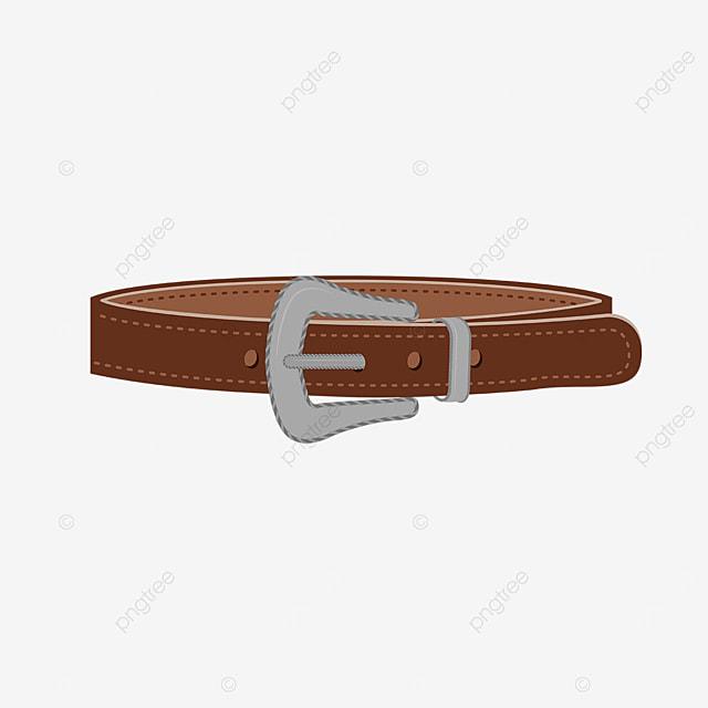 dark brown silver belt clip art