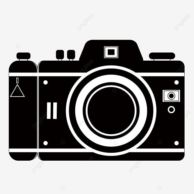 digital camera clipart black and white