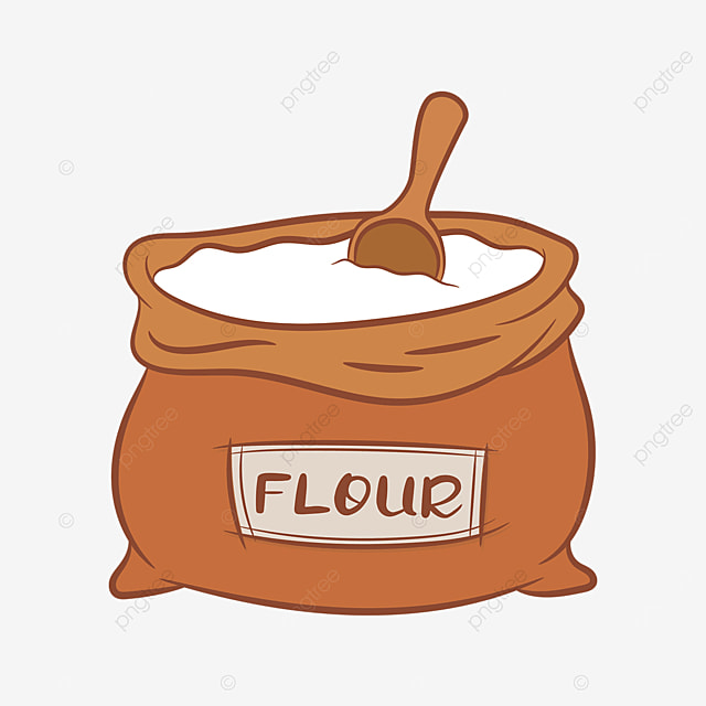 earthy red bag flour clip art
