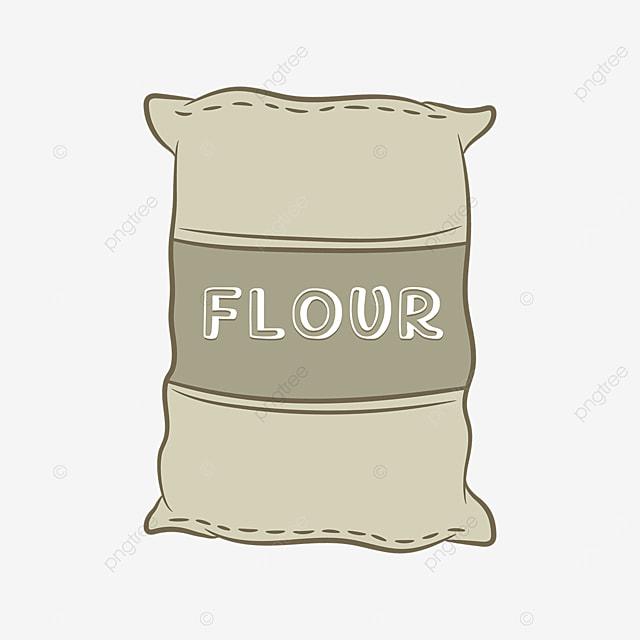 gray green gunny flour clip art