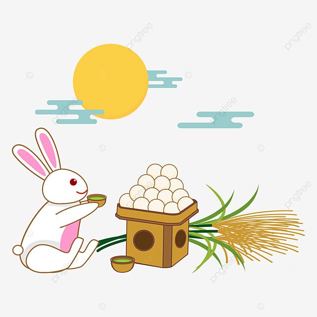 japanese tsukimi dumpling and cute bunny