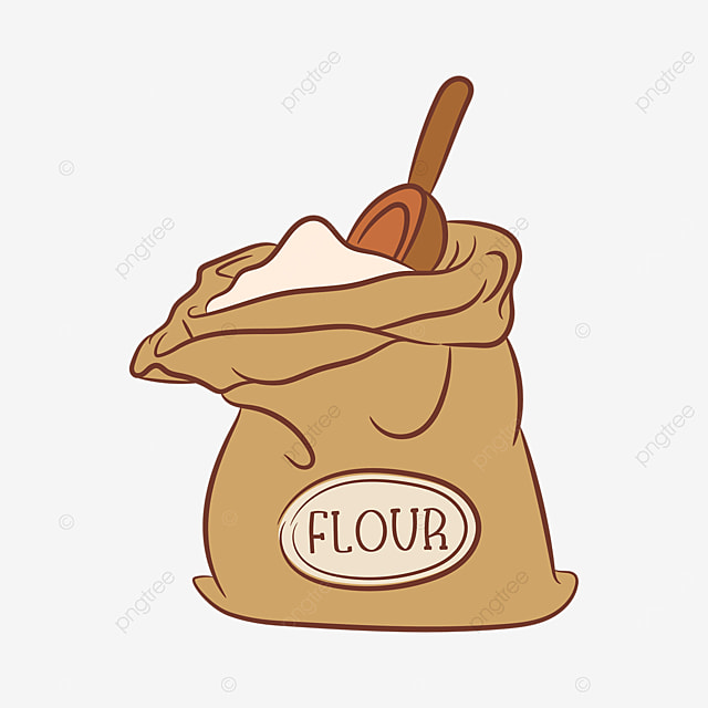 labeled flour clip art