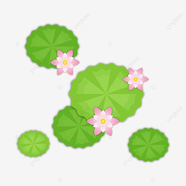 lace leaf water lily clip art