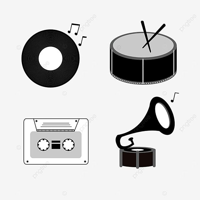 line draft music equipment black disc