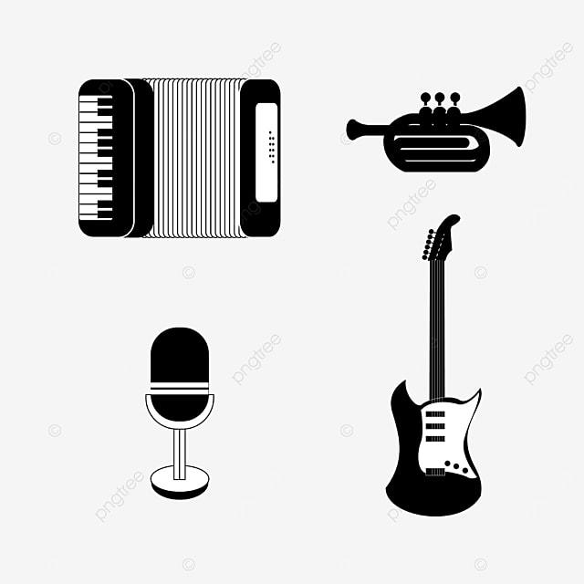 lineart music equipment accordion
