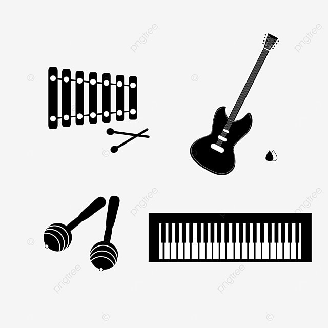 lineart music equipment electric guitar