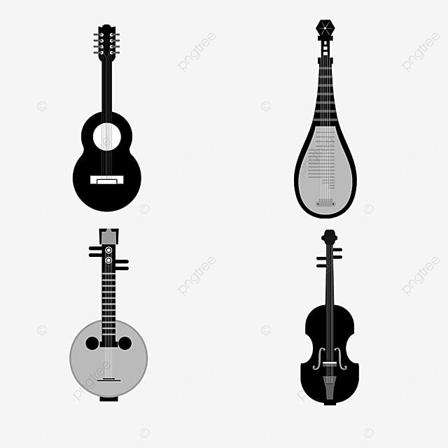 lineart music equipment guitar