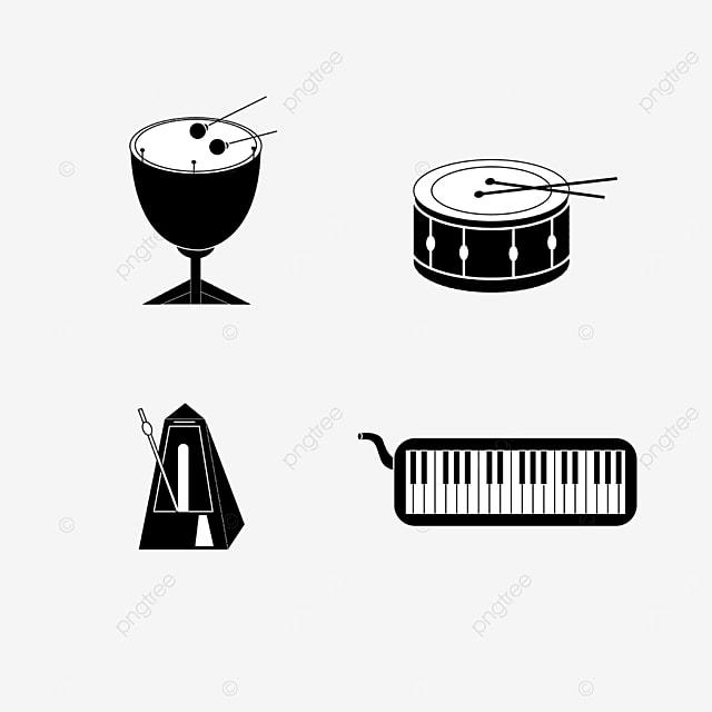 lineart music equipment metronome