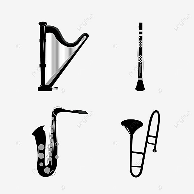 lineart music instrument sasphon