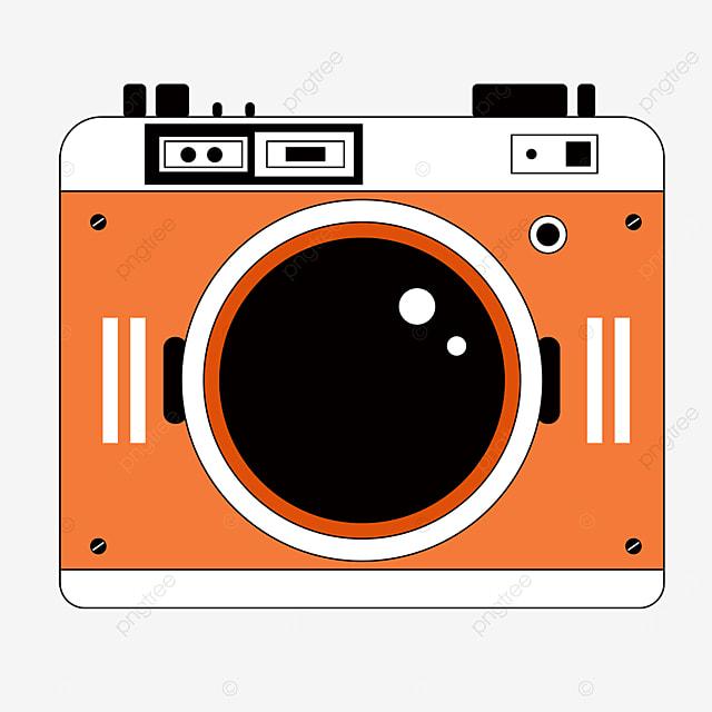 orange cartoon camera clipart