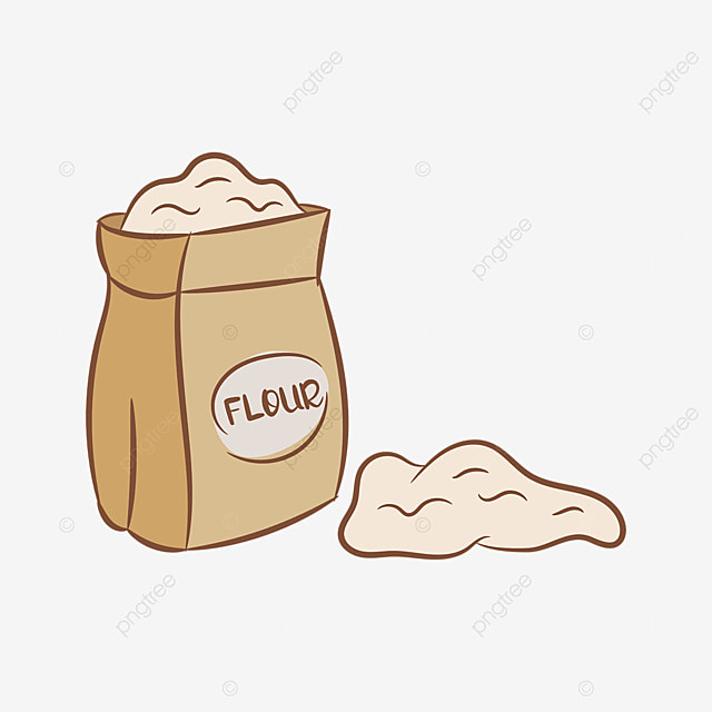 paper bag flour clip art