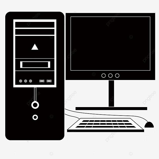 personal desktop computer clip art