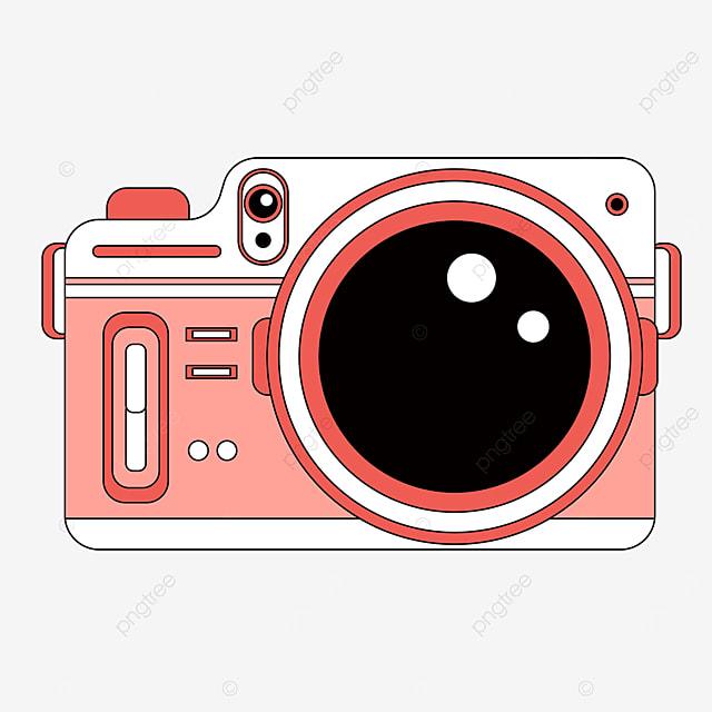 pink cartoon camera clipart