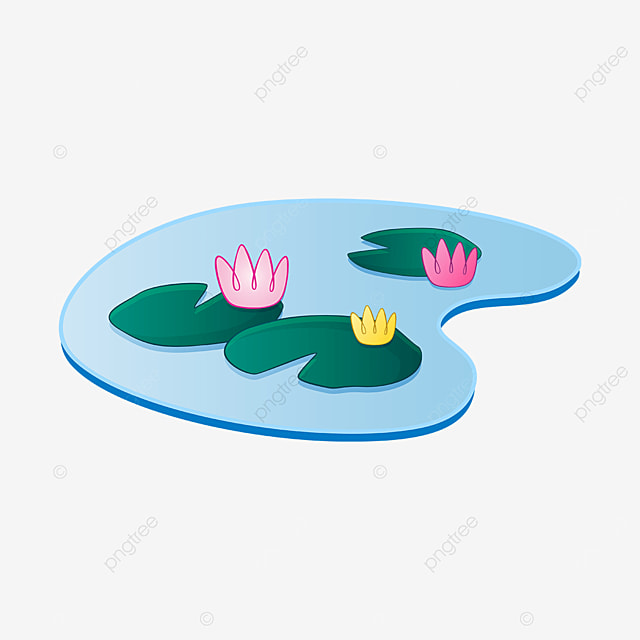 pond combination water lily clip art
