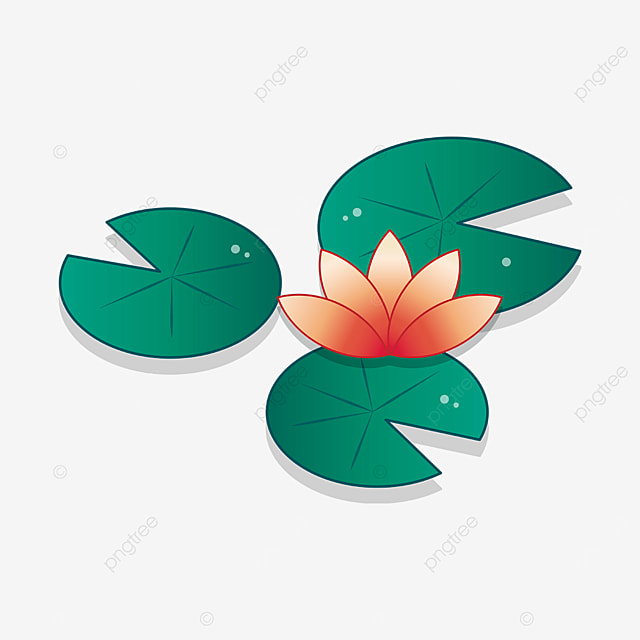 red water lily clip art