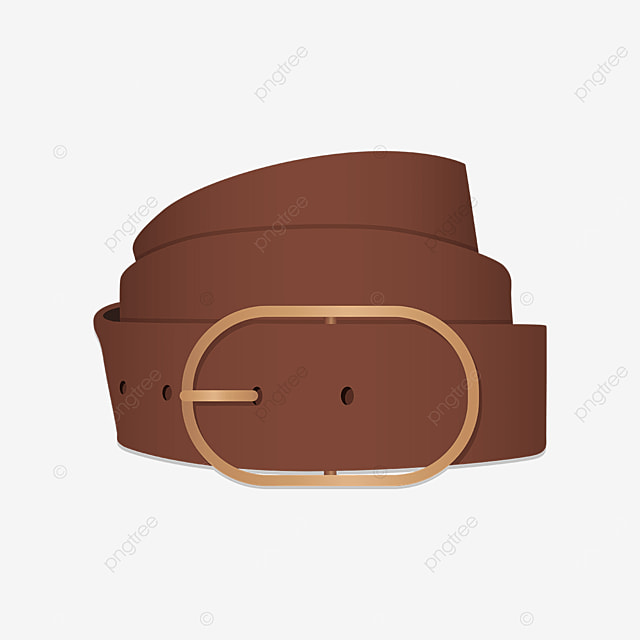 rolled up brown leather belt clipart