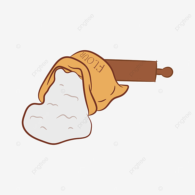 rolling pin spread out flour clipart