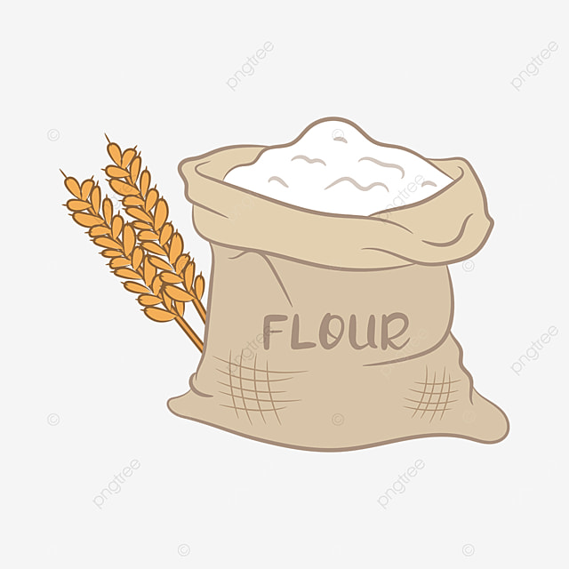 sack of wheat flour clip art