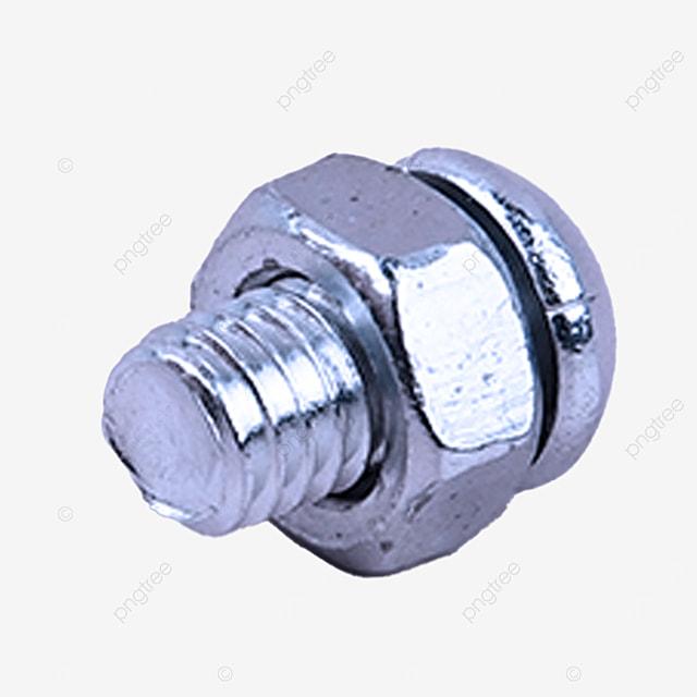 silver screw equipment part iron metal