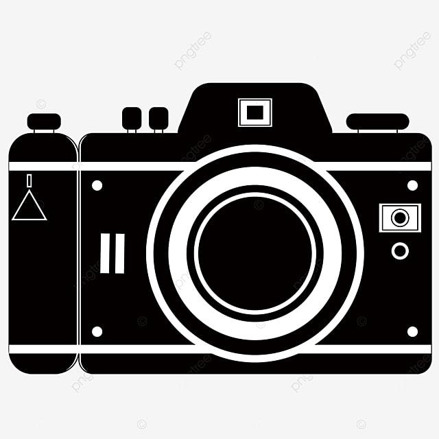 square black and white camera clipart