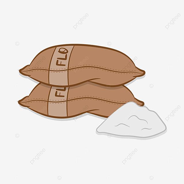 two sacks of flour clipart