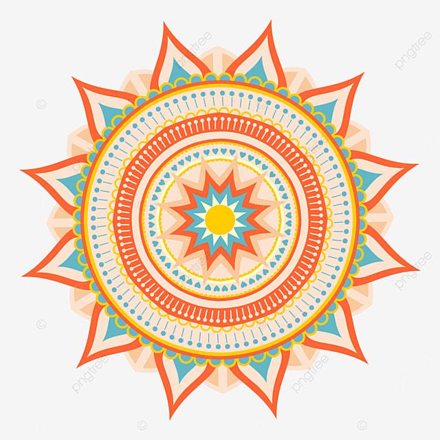beautiful mandala ornamental abstract texture