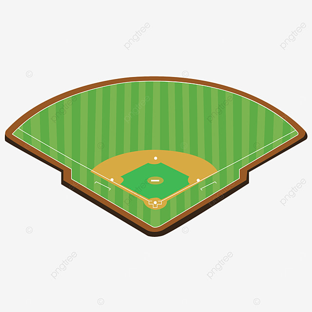 cartoon green looking down perspective baseball field clipart field