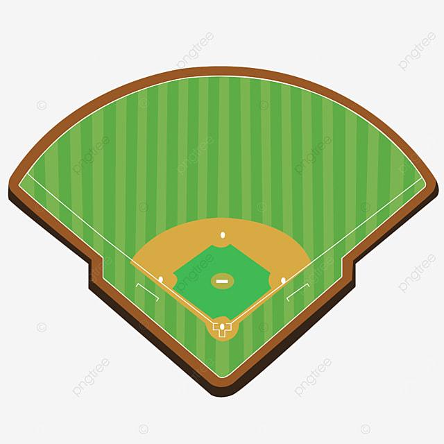 flat angle baseball field clip art