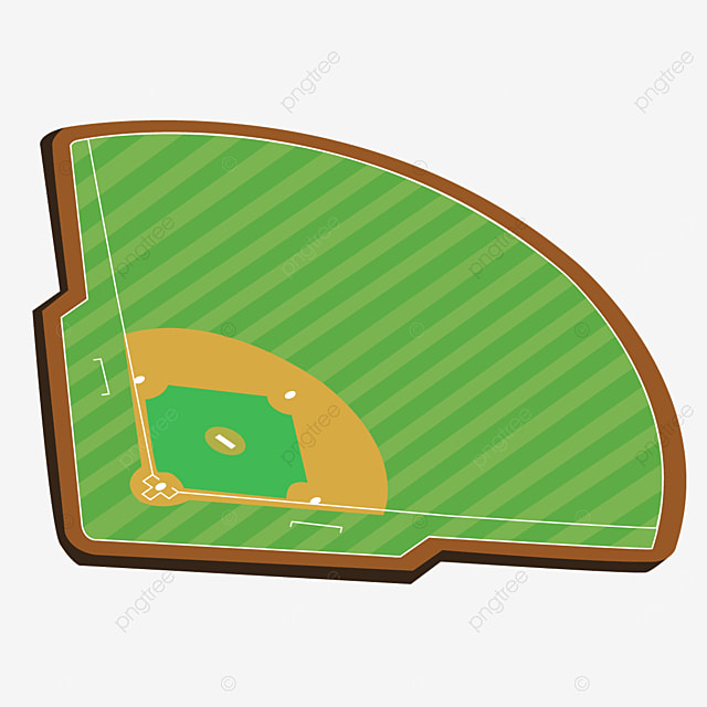 right side baseball field clipart arc green